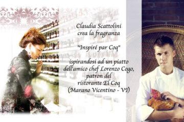 Claudia Scattolini, Fragrance Designer , con gli chef Lorenzo Cogo e Alessandro Negrini