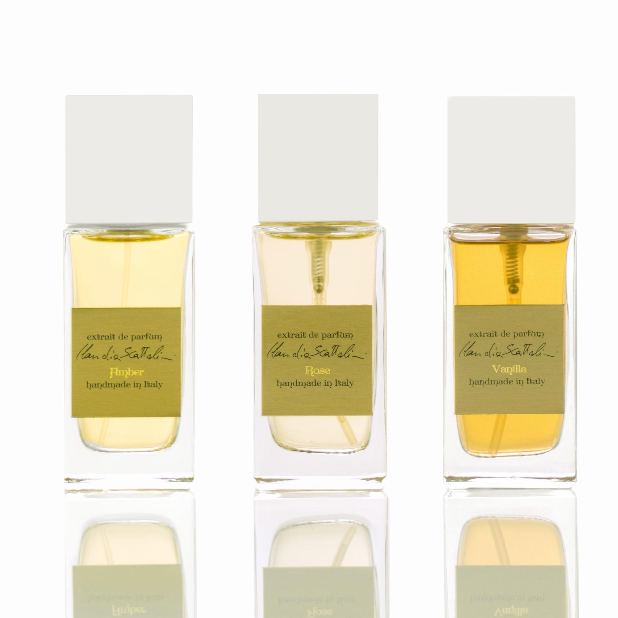 Parfum layering Rose Vanilla Amber